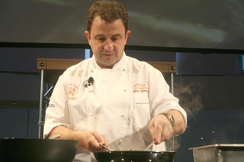 Martin Berasategui cocinando