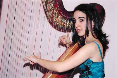 Cristina Montes y su arpa