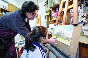 Ricardo Alario en su taller