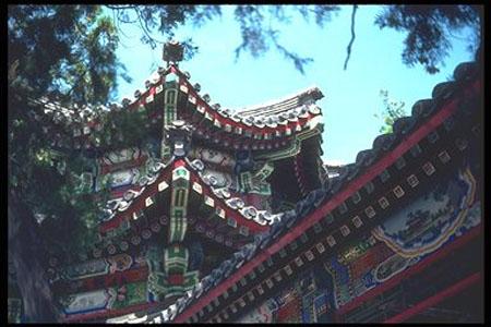 detalle palacio La arquitectura china antigua, un arte de madera y ladrillos