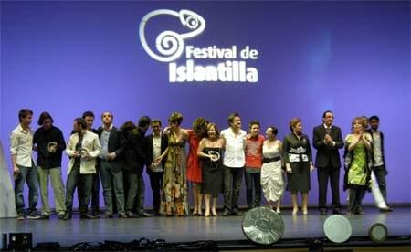 Entrega premio Andalucia Film Comission en Festival Cine Islantilla