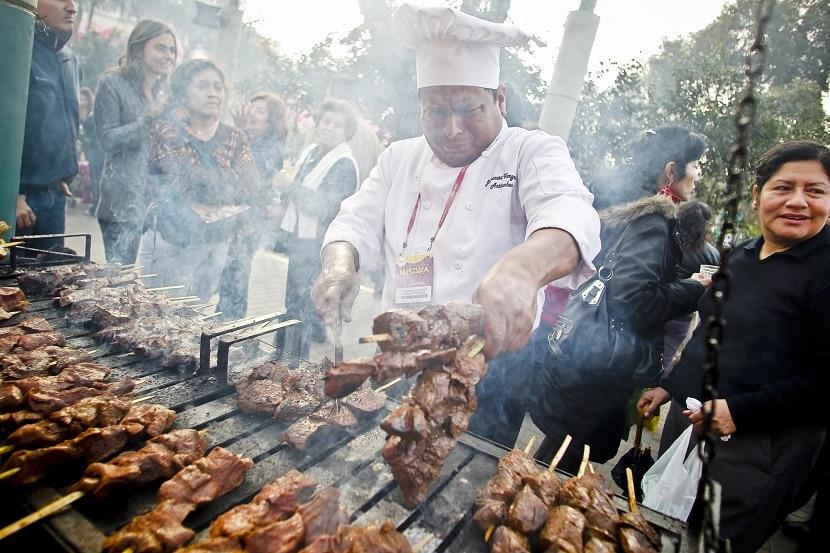 carne colombia, una de la comida típica de la región andina