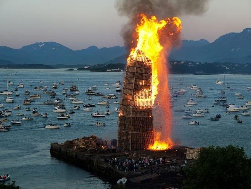 Hoguera de San Juan en Noruega