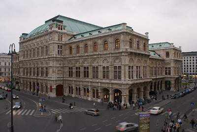 Ópera de Viena, fachada exterior