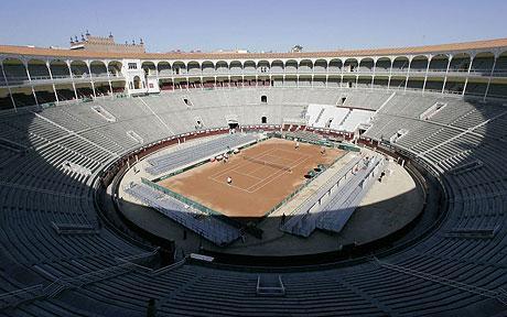 Plaza de las Ventas habilitada para una anterior edición Copa Davis