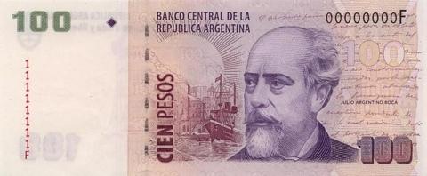 el dinero de argentina: