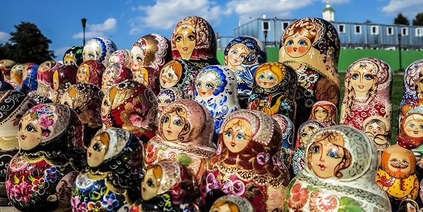 Matrioskas del artista Sergei Posad