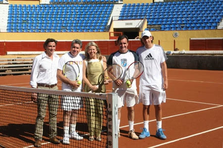 Inauguración Pista de Tenis Plaza Toros Puerto Banús Copa Davis