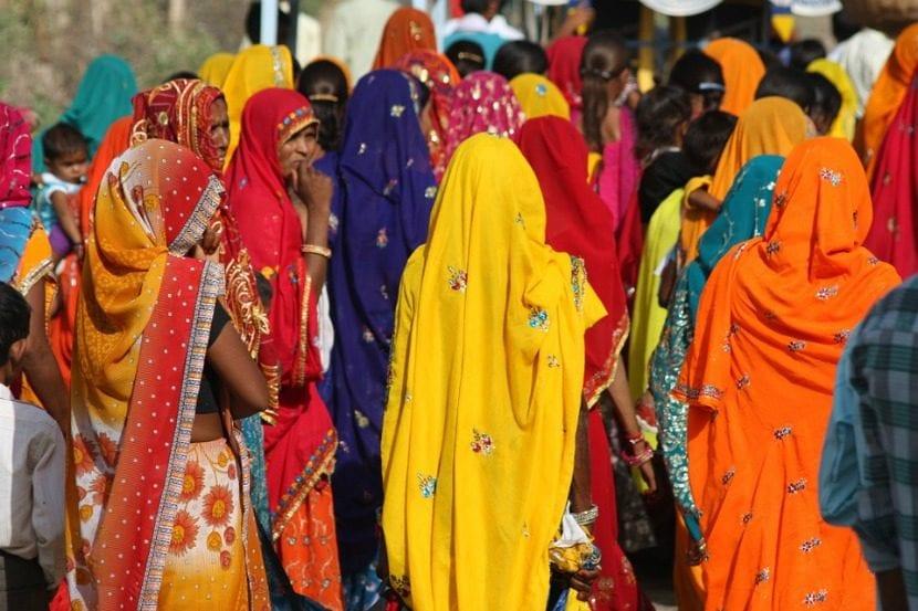 moda típica de la cultura india