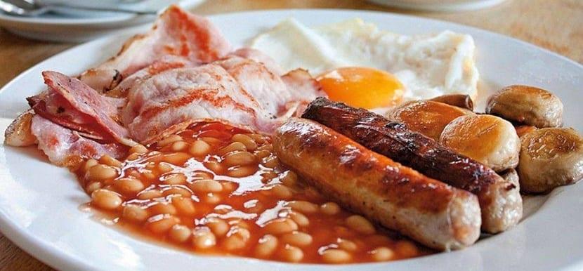 Un desayuno típico de Londres