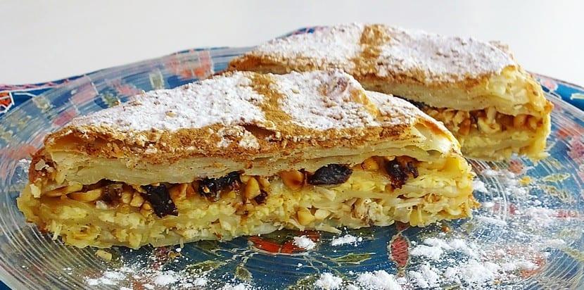 Bastilla pastel marroquí