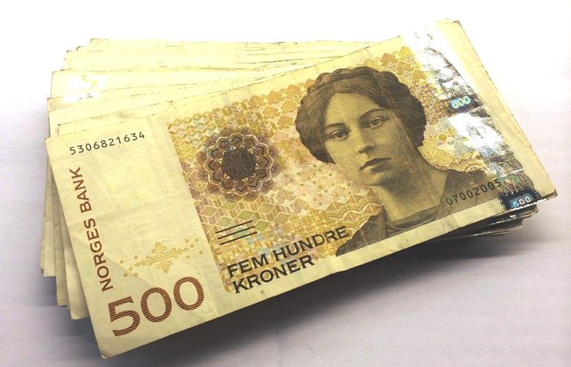 Billete típico de Noruega