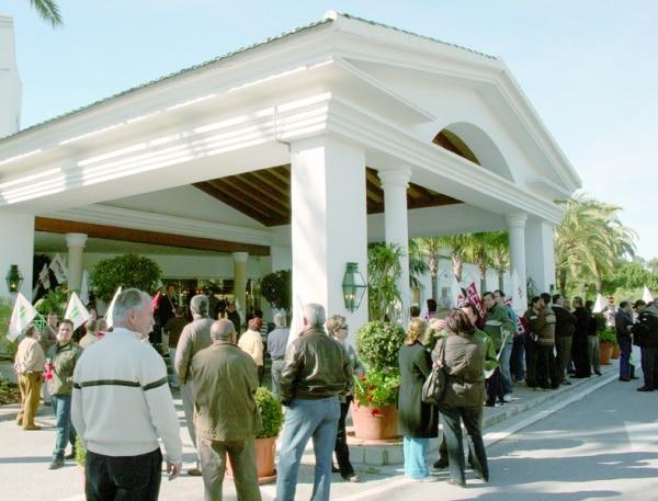 Reivindicación Sindical en el Hotel los Monteros
