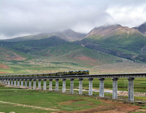Lhasa China Tibet tren train