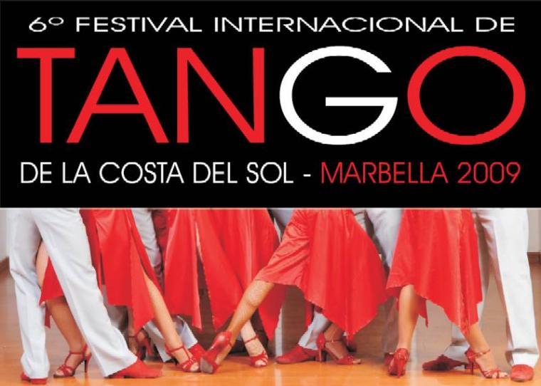 Cartel Festival Tango en Marbella