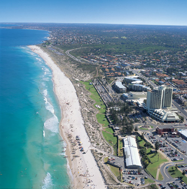 ScarboroughBeach arial Scarborough, la playa mas popular de Perth