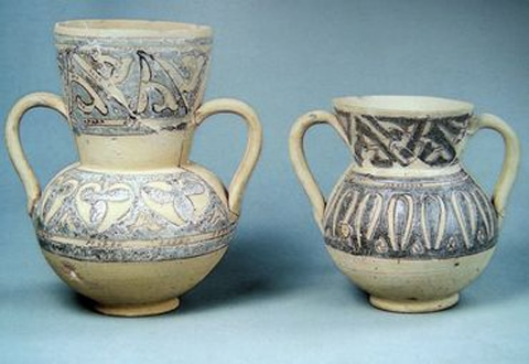 Muestras de cerámica omeya