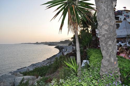 Vistas desde el Restaurante La Bocana de Marbella