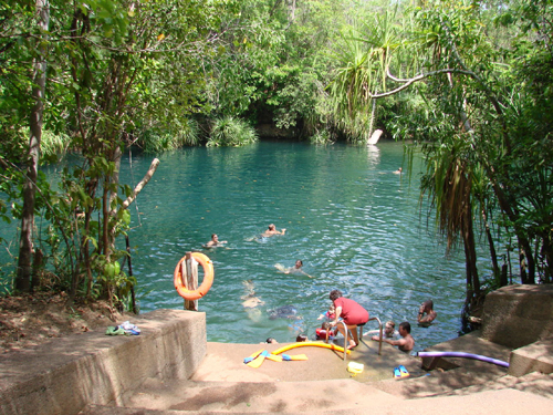 berry springs Berry Spring, un parque natural en Darwin