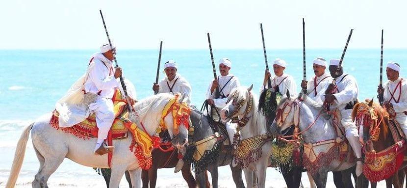 Festividad histórica en Marruecos