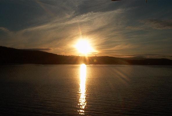 El sol a medianoche en Noruega