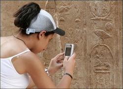 El servicio de telefonía móvil de Egipto