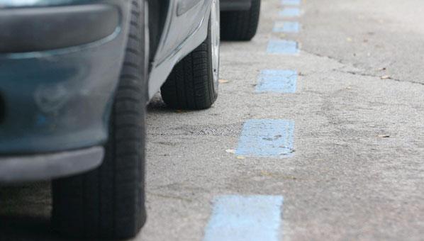 Zona azul de aparcamientos