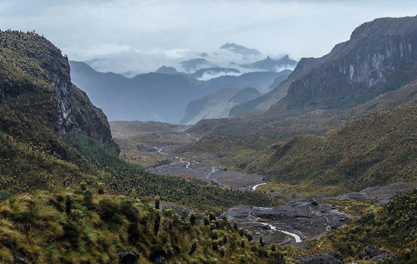 Montañas con el característico relieve colombiano