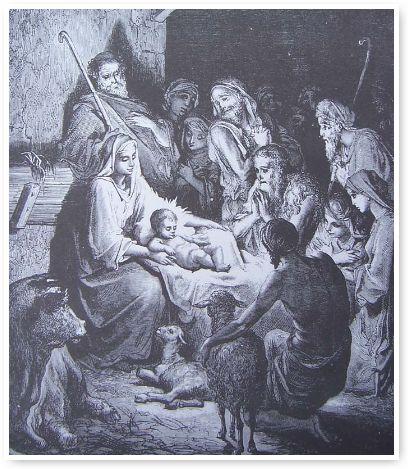 Grabado navideño de Gustavo Dore
