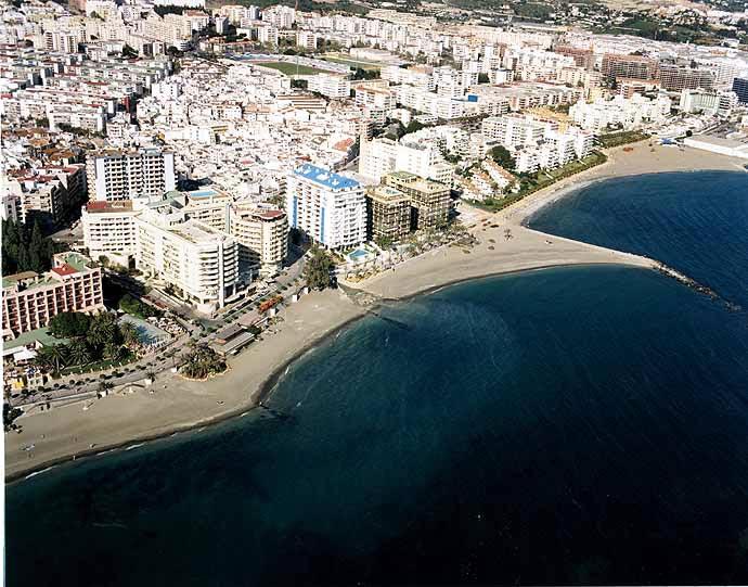 Vista Aérea de las playas de Marbella