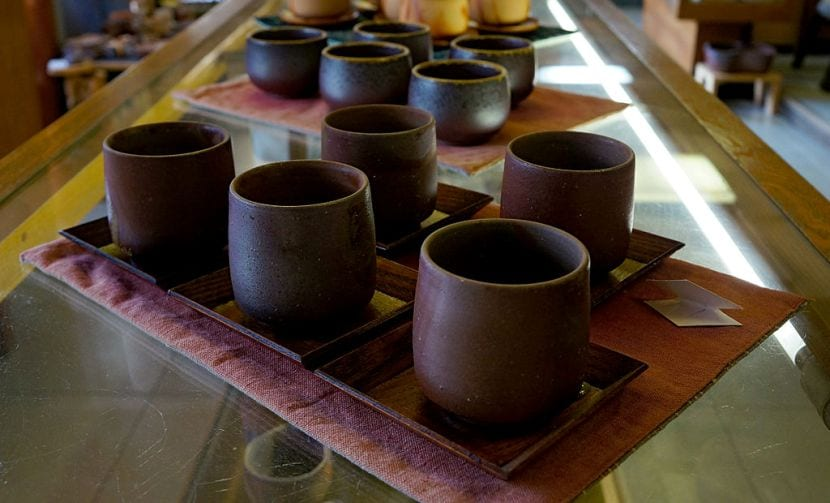 taza japonesa de té