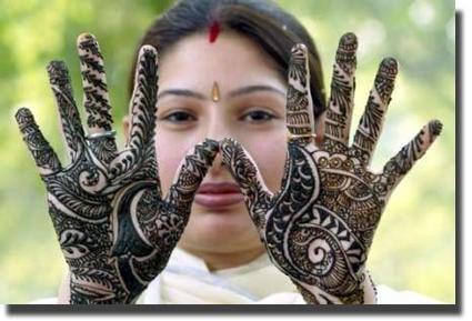 Henna Tinta Natural Hindu Para Tatuajes Y Cabello