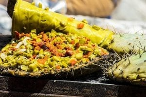 Nopal de penca, un plato de comida típica de Querétaro