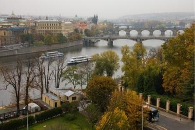 Vista panorámica de Praga