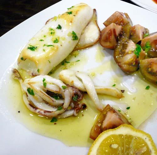platos de calamares