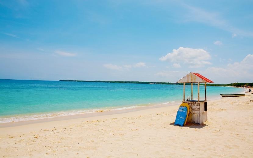 Playa en Colombia
