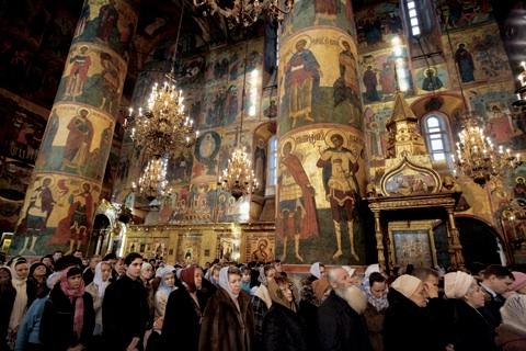 Resultado de imagen de catedral de la anunciacion moscu interior