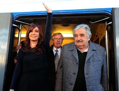 Binner y Tabare juntos Mujica-Cristina