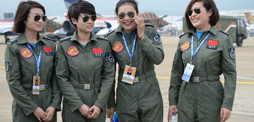 mujeres piloto china