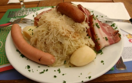 Chucrut, plato típico alsaciano