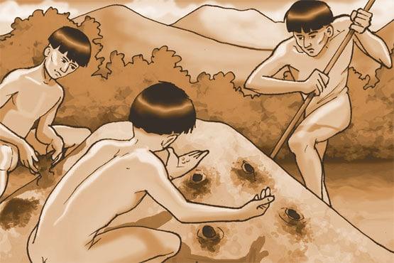 Siembra de yuca en monticulos de tierra suelta