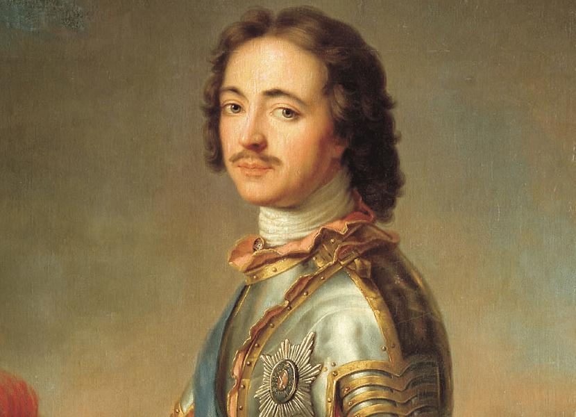 Pedro I de Rusia con el traje típico ruso