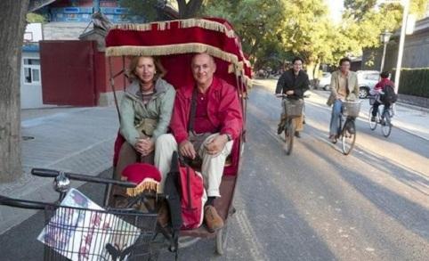Rickshaw las carretillas de transporte en bejing - Carretillas de transporte ...