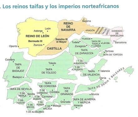 Los reinos taifas de España
