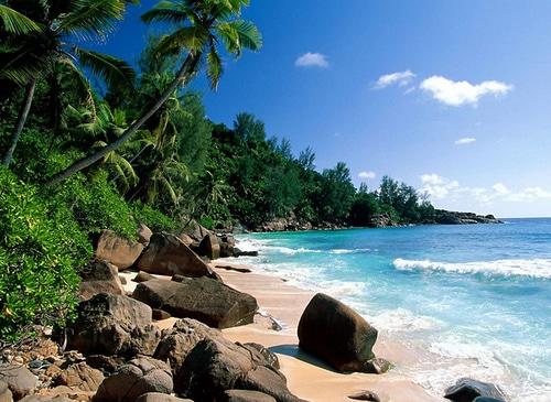 Playa de El Yaque en isla Margarita, Venezuela