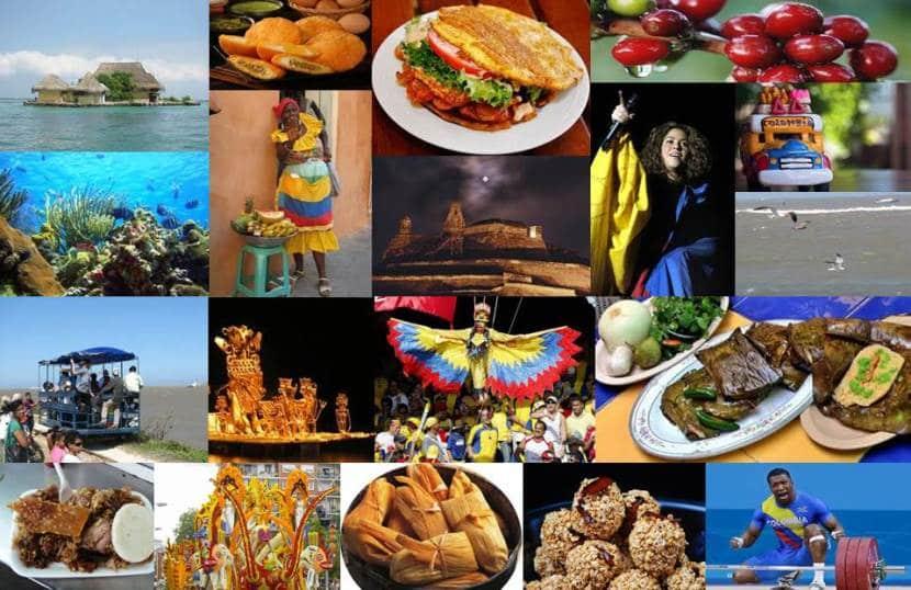 mosaico con la cultura colombiana