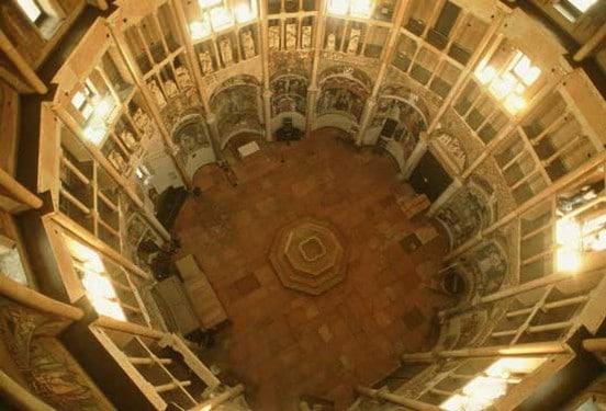 interior del baptisterio de Parma