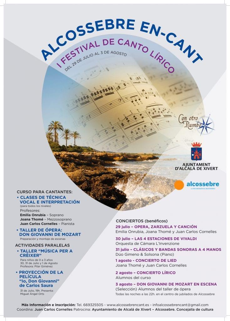 """Alcocebre celebrará el I Festival lírico """"Alcossebre en-cant"""""""