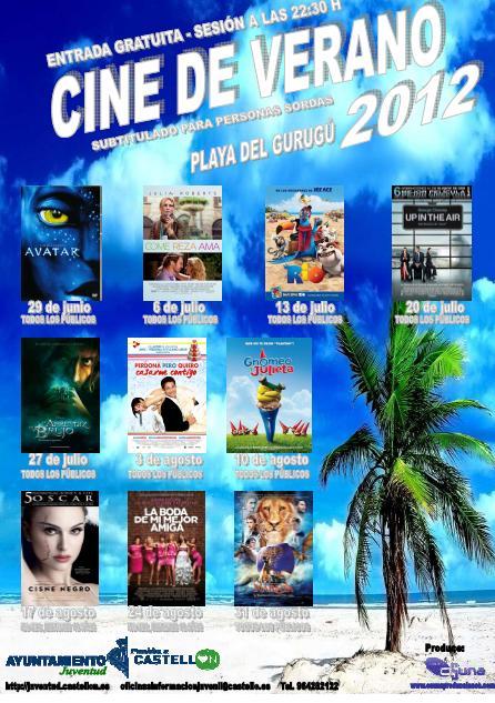 Cine de verano 2012 en Castellón