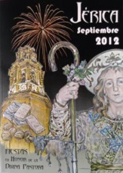 Cartel de fiestas en honor a la Divina Pastora en Jérica.